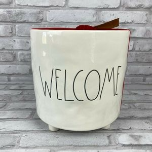 Rae Dunn Welcome Canister Planter Container